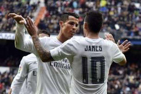 Ronaldo, Kunci di Balik Putusan James Rodriguez Bertahan di Madrid