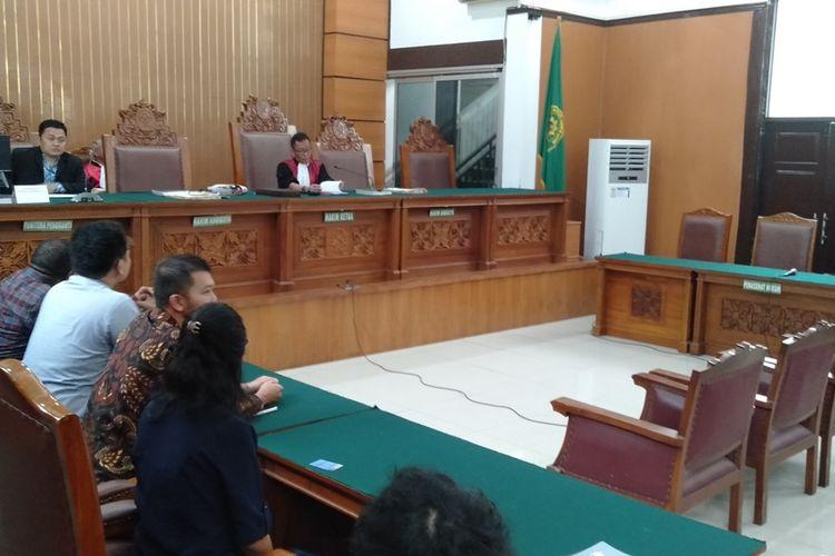 sidang praperadilan Surya Anta Cs lawan Polda Metro Jaya di Pengadilan Negeri Jakarta Selatan, Senin (11/11/2019)