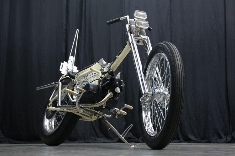 Motor custom Honda Grand bergaya choppy cub garapan Harta Motorcycle