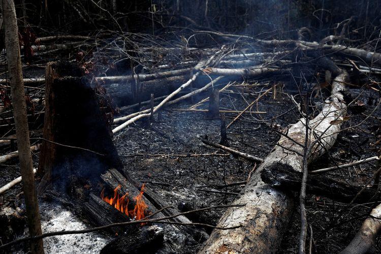Kebakaran hutan Amazon, Brasil pada 21 Agustus 2019.