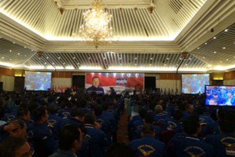 Suasana Rapat Koordinasi Nasional Partai Demokrat, di Hotek Grand Sahid Jaya, Jakarta, Sabtu (29/6/2013).