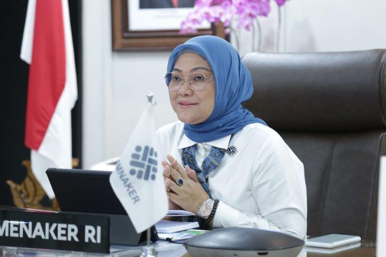 Menteri Ketenagakerjaan (Menaker) Ida Fauziyah dalam salah satu kesempatan.