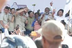 Seusai Kampanye, Prabowo Ajak Masyarakat Papua Nyanyikan Lagu