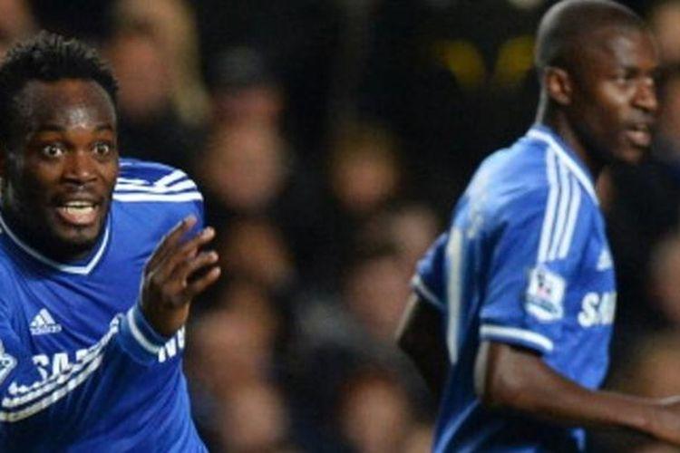 Gelandang Chelsea, Michael Essien.