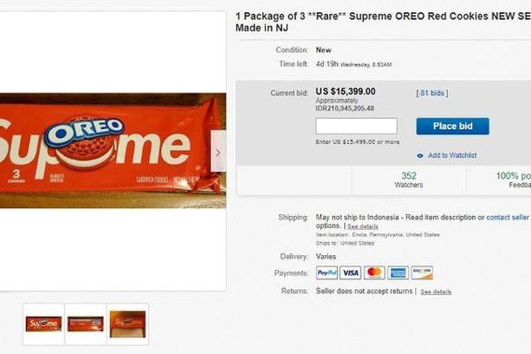 Supreme Oreo di eBay.
