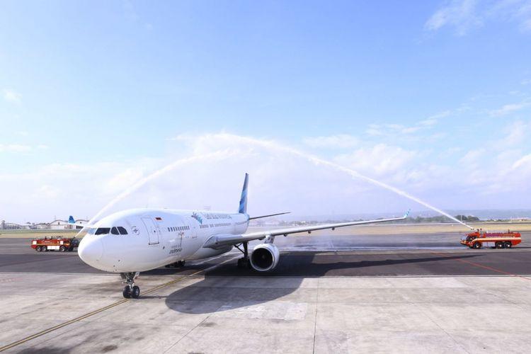 Pesawat Airbus A330-200 dipilih untuk melayani rute terbaru Denpasar-Mumbai, yang baru dibuka, Senin (23/4/2018).