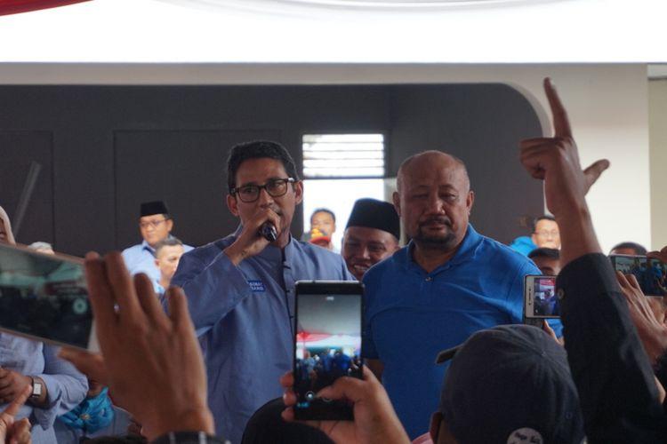 Sandiaga Uno saat meresmikan Roemah Djoeang di Banyuwangi, Selasa (27/11/2018