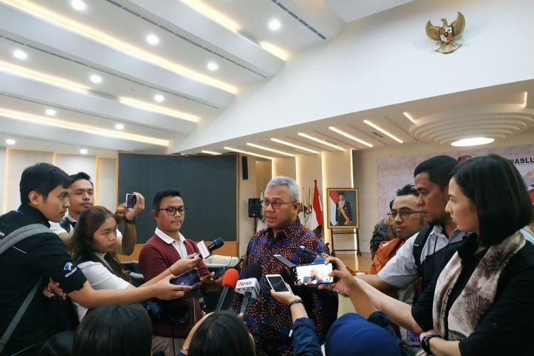 Ketua KPU, Arief Budiman, di Kantor KPU, Menteng, Jakarta Pusat, Kamis (16/1/2020).