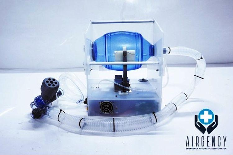 Ventilator portabel yang dikembangkan tim dosen ITB.