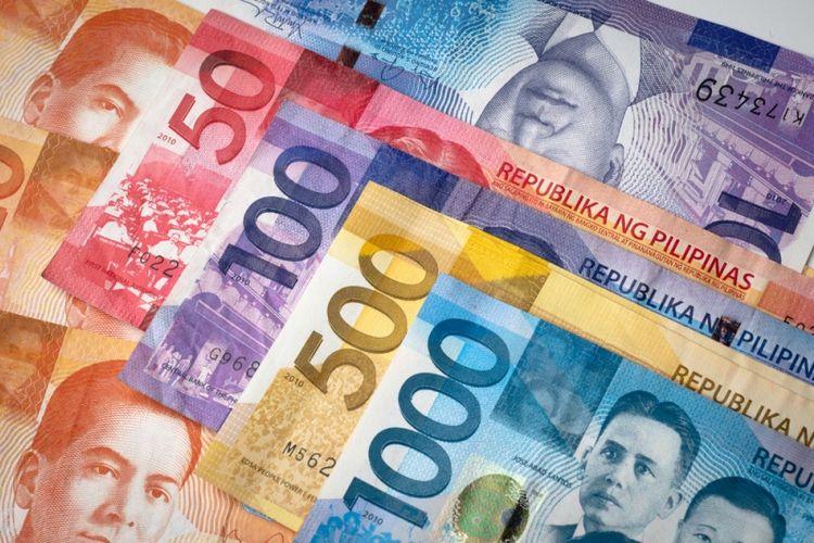 Mata uang peso Filipina.