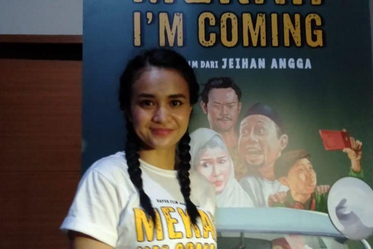 Michelle Ziudith saat ditemui di XXI Blok M Square, Jakarta Selatan, Selasa (10/3/2020).