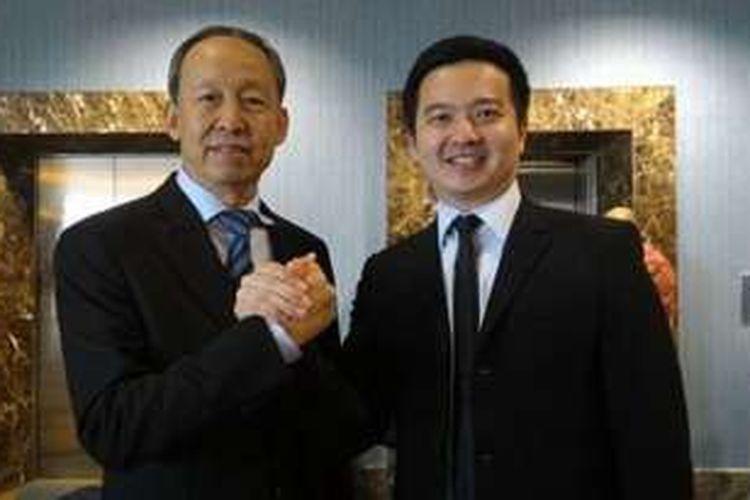 CEO Pollux Properties Group Nico Po berpose bersama Du Bo, Chairman QingJian International Holdings di Jakarta, Rabu (18/5/2016).