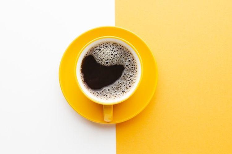 Ilustrasi secangkir kopi. Kopi mengandung kafein yang membuat kita terjaga.