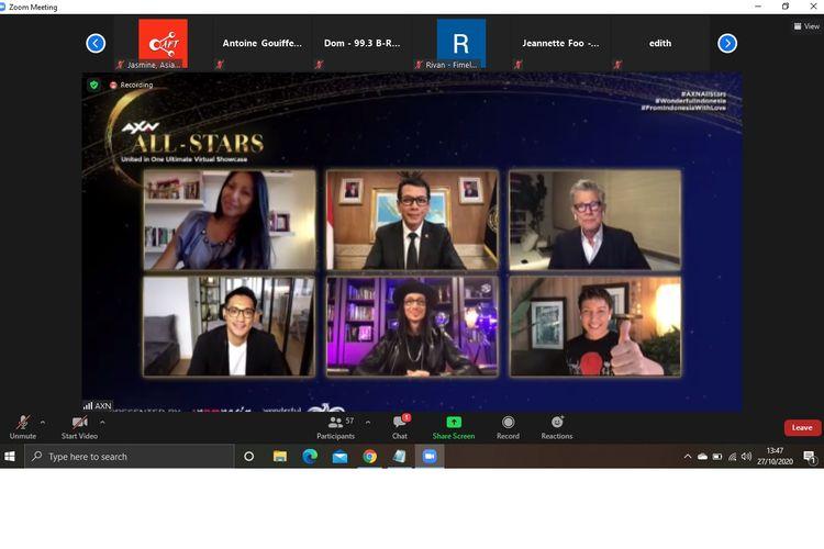 AXN All-Stars merupakan kerja sama dari AXN Entertainmnet dan Kemenparekraf Indonesia untuk menghadirkan sebuah acara virtual yang bisa menghibur masyarakat Asia yang terdampak Covid-19.