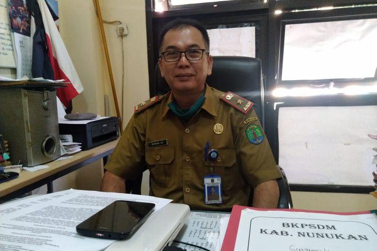 Kepala Bidang Ketenagaan PAUD, TK, SD dan SMP Dinas Pendidikan Kabupaten Nunukan Ridwan AS