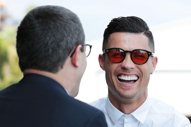 Megabintang Juventus, Cristiano Ronaldo saat datang ke acara penganugerahan gelar pemain terbaik Eropa atau UEFA Mens Player of The Year 2019, di Monako, Kamis (29/8/2019) atau Jumat dini hari WIB.