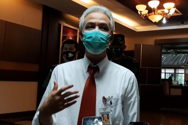 Gubernur Jawa Tengah Ganjar Pranowo saat ditemui di kantornya, Kamis (13/8/2020).