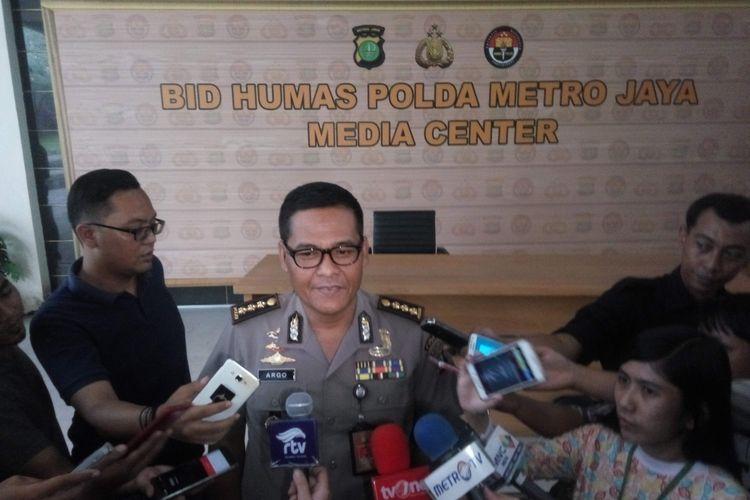 Kabid Humas Polda Metro Jaya Kombes Argo Yuwono di Mapolda Metro Jaya, Selasa (1/8/2017).