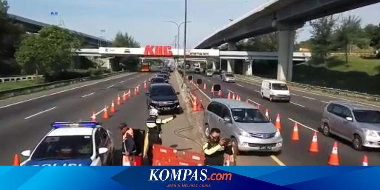 Arus Balik Macet, Contraflow Diberlakukan di KM 61