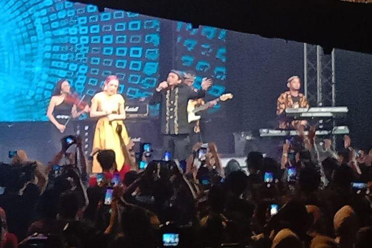 Pedangdut Cita Citata tampil dalam konser Didi Kempot bertajuk Konangan Concert di Live Space SCBD, Jakarta Selatan, Jumat malam (20/9/2019).