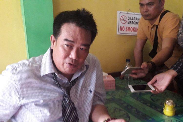 Kuasa hukum 14 caleg Partai Gerindra yang mengajukan sengketa persata terhadap partainya, Yunico Syahrir, saat ditemui di Pengadilan Negeri Jakarta Selatan, Rabu (17/7/2019).