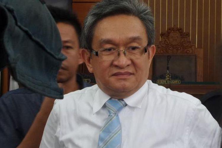 Maqdir Ismail di Pengadilan Negeri Jakarta Selatan, Rabu (5/10/2016).