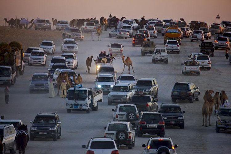 Ilustrasi mobil-mobil Toyota yang beredar di kawasan Timur Tengah
