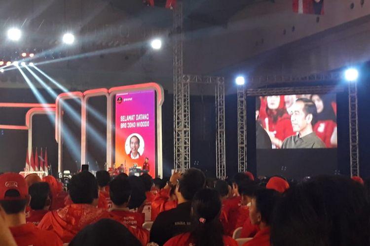 Presiden Joko Widodo menghadiri acara hari ulang tahun (HUT) ke-4 Partai Solidaritas Indonesia (PSI), Minggu (11/11/2018) malam, di Indonesian Convention Exhibition (ICE), BSD City, Tangerang, Banten.
