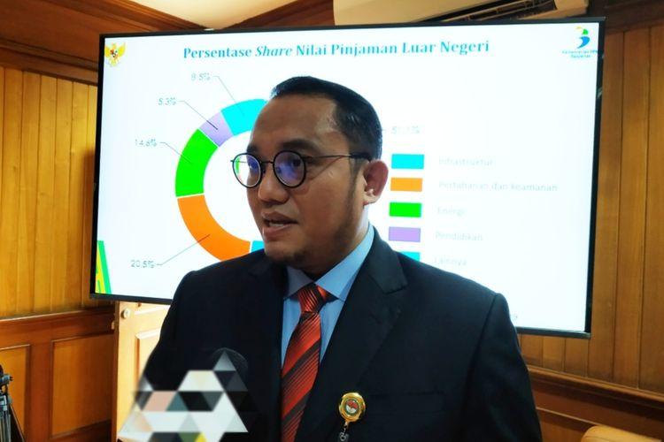 Juru Bicara Menteri Pertahanan Prabowo Subianto, Dahnil Anzar Simanjuntak, di Kantor Kemenhan, Jakarta Pusat, Kamis (23/1/2020).