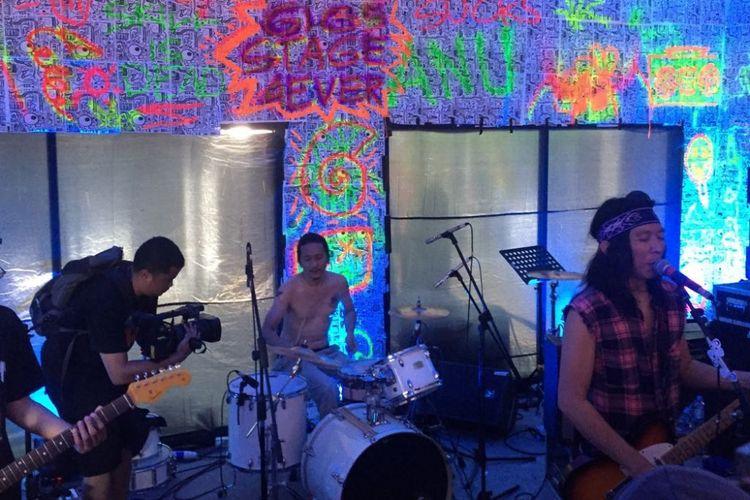 The Sidhartas tampil pada hari ketiga Syncronize Fest 2017 di Gambir Expo Kemayoran, Jakarta, Minggu (8/10/2017).