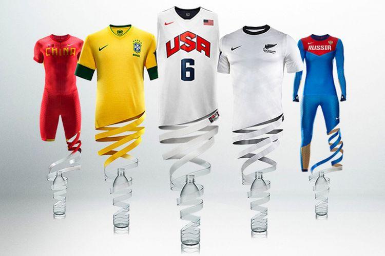 Jersey Nike yang dibuat dari daur ulang botol plastik