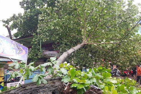 Hujan Deras dan Angin Kencang di Banjarmasin, Sejumlah Rumah Rusak dan Jalan Protokol Terendam Banjir