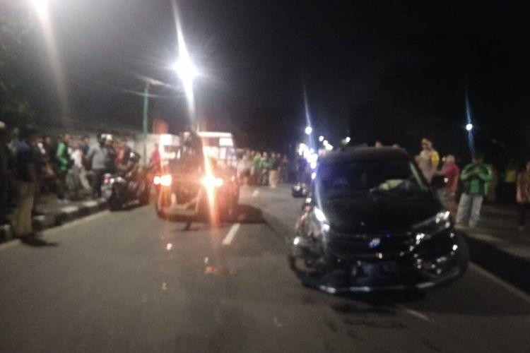 3 mobil alami kecelakaan lalu lintas di Jalan Basuki Rachmat, Duren Sawit, Jakarta Timur, Selasa (10/3/2020) dini hari, satu orang luka-luka.