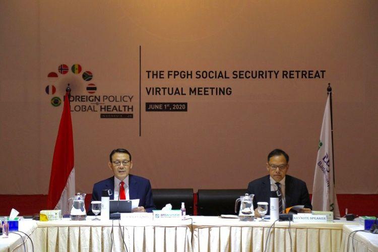 Indonesia menjadi tuan rumah forum internasional Foreign Policy and Global Healthcare (FPGH) Ministerial Retreat yang membahas isu kesehatan global, Senin (1/6/2020).