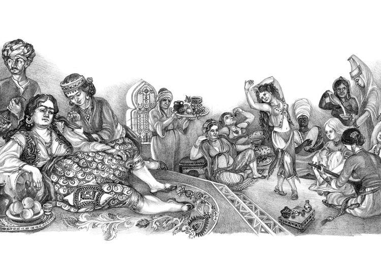 Di sebuah harem di masa lalu, orang kasim atau orang yang dikebiri adalah pelayan yang dipercaya.