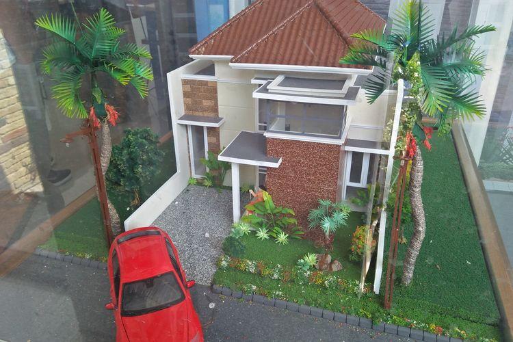Contoh maket Sun Flower Cluster (SFC), yang coba ditawarkan K3PG kepada generasi millenial di Gresik, Jawa Timur.