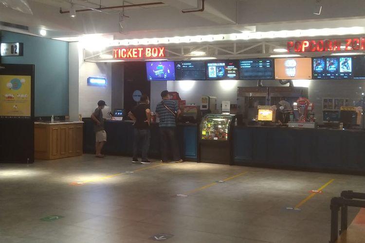 Suasana Bioskop CGV Sunter Mall, Tanjung Priok, Jakarta Utara, Jumat (1/10/2021).