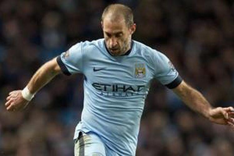 Pablo Zabaleta, bek kanan Manchester City.