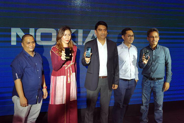 Peluncuran Nokia 4.2 di Jakarta, Selasa (7/5/2019).