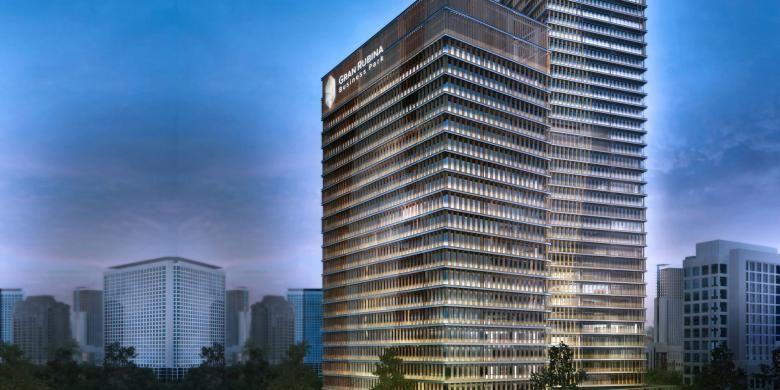 Menara pertama Gran Rubina Business Park akan dibuka pertengahan April 2015.