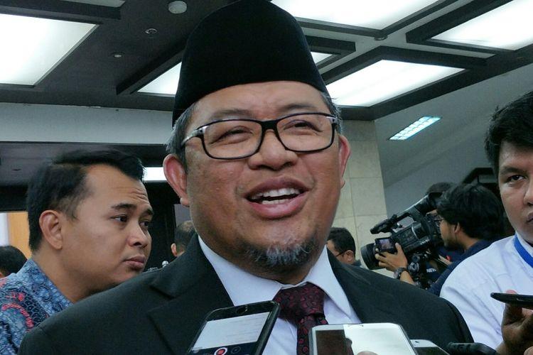 Politisi PKS Ahmad Heryawan ketika ditemui di Kantor Kementerian Dalam Negeri RI, Jakarta, Rabu (25/4/2018).