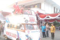 Tontowi-Liliyana Diarak dari Surabaya ke Sidoarjo
