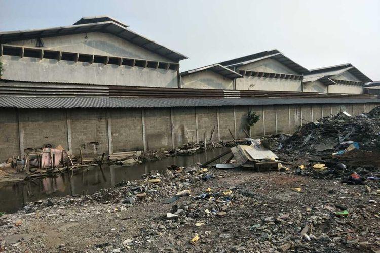Kondisi terkini di bekas lokasi penggusuran Jalan Agung Perkasa, Sunter Jaya, Tanjung Priok, Jakarta Utara, Jumat (17/1/2020)