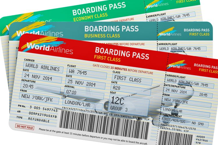 Ilustrasi tiket pesawat. Kemenhub tak perlu persetujuan INACA untuk turunkan tarif batas atas tiket pesawat.