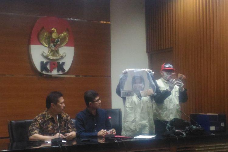 KPK menggelar konferensi pers terkait kasus perkara yang menyangkut Kejaksaan Tinggi DKI Jakarta di kantor KPK, Jakarta Selatan, Sabtu (29/6/2019).