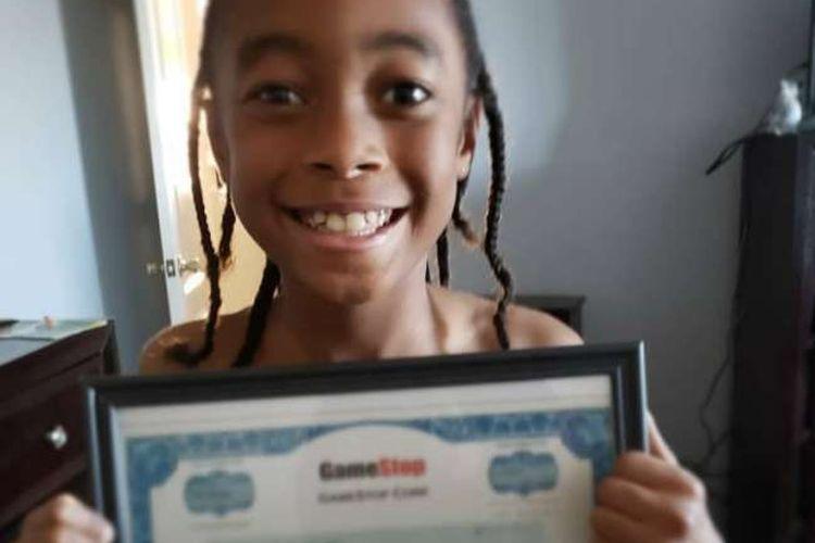 Bocah 10 tahun asal Texas, AS yang untung 5.000 persen berkat saham GameStop.
