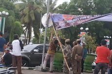 Massa Pendukung Paslon Petahana Protes Baliho Faida Diturunkan, Ini Penjelasan Bawaslu