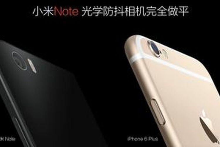 Xiaomi Mi Note vs iPhone 6 Plus.