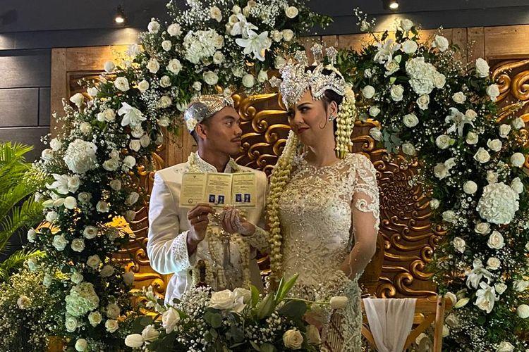 Bek Persij Jakarta, Alfath Faathier melangsungkan pernikahannya dengan Ratu Rizky Nabila, Minggu (29/3/2020)