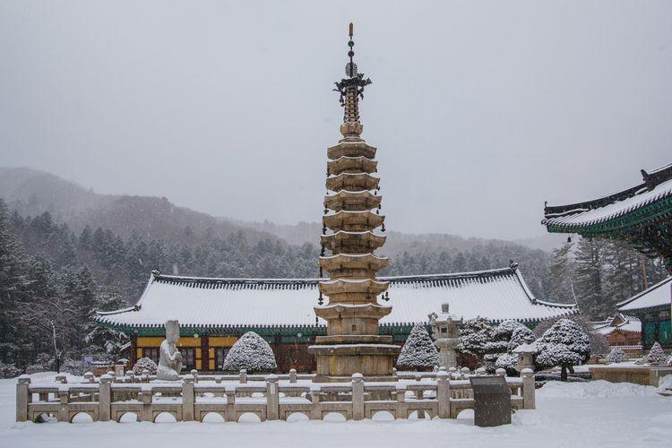 Musim dingin di Gangwon, Korea Selatan